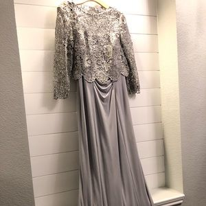 Gray Mother of Bride Dress